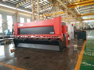 12x3200mm plieno plokštės giljotinos mašina 3000mm metalo lakšto šlifavimo mašina 12mm Elektros