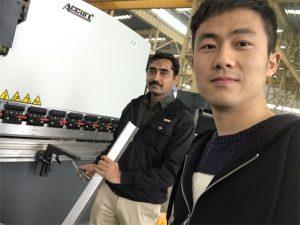 Alžyro klientų testavimo stabdžių mašina mūsų gamykloje