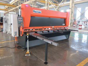 QC11y K-4X2500 lakštinio metalo hidraulinė giljotinos pjaustymo mašina geležies aliuminio pjovimui