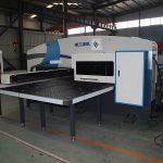 Siemens sistema CNC turėklų štampavimo staklės, automatinė skylių perforavimo mašina, CNC perforavimo preso kaina