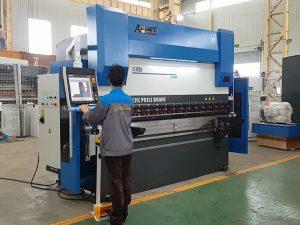 6 ašies cnc hidraulinis presas stabdžių lenkimo mašina lakštinio metalo 8000mm 1200TN